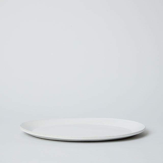OVAL PLATE L ホワイト / 向山窯×TODAY'S SPECIAL
