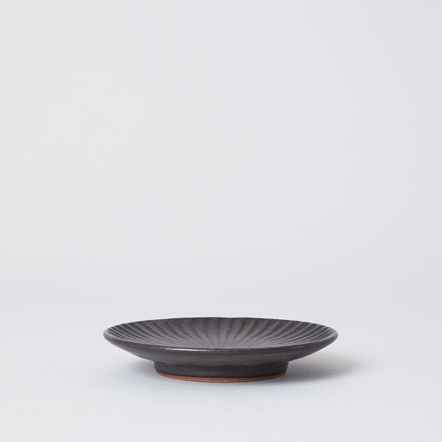 向山窯×TODAY'S SPECIAL SHINOGI PLATE 黒田釉 黒 小