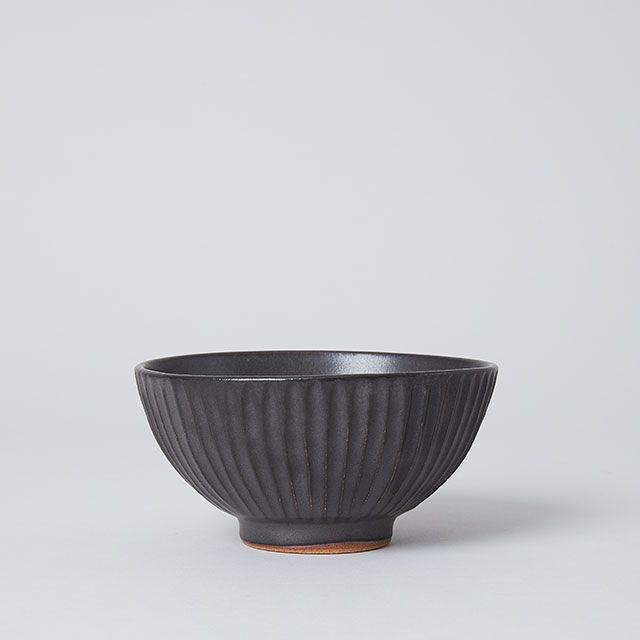 向山窯×TODAY'S SPECIAL SHINOGI 飯碗 黒田釉 黒