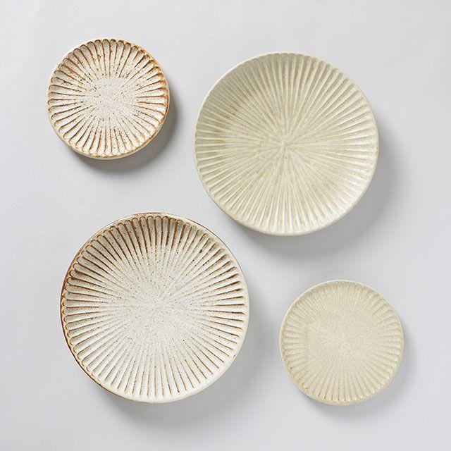 SHINOGI 6寸皿 灰釉 / 向山窯×TODAY'S SPECIAL