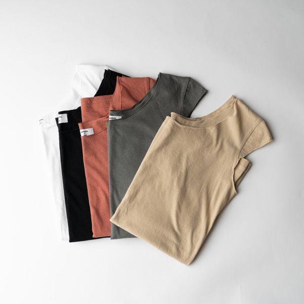 B&H co.フレンチスリーブTシャツ ブラウン