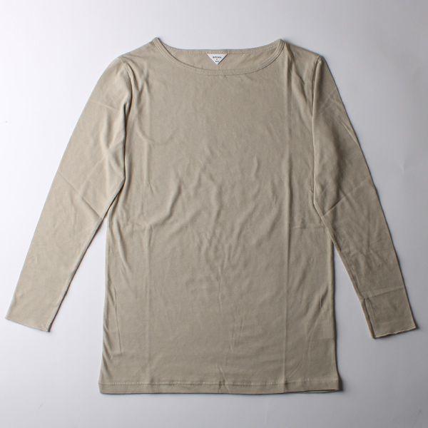B&H co. ロングスリーブTシャツ グレージュ