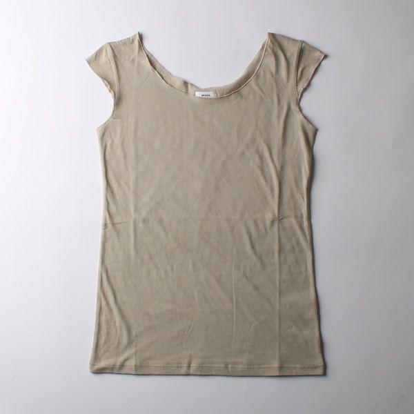 B&H co.フレンチスリーブTシャツ グレージュ