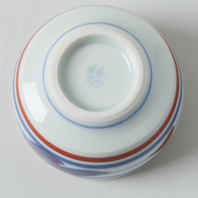 豆鉢 赤線三つ葉 / 梅山窯
