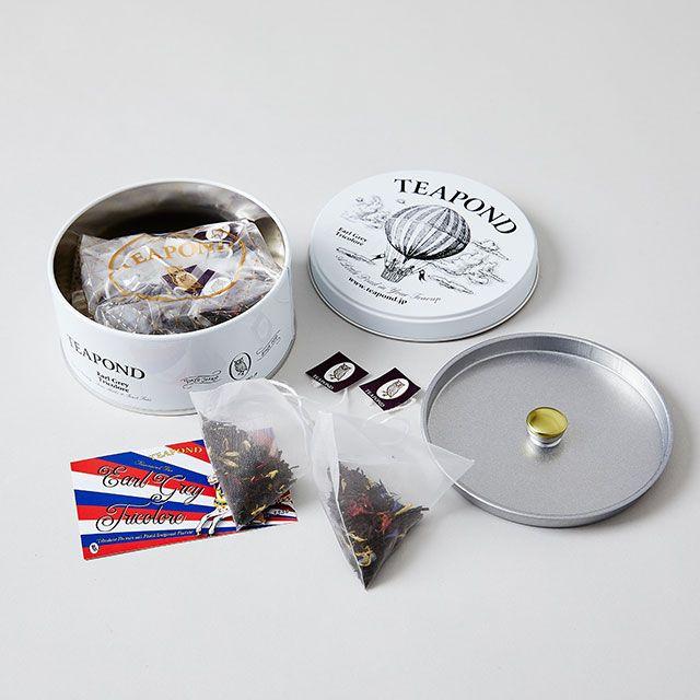 アールグレイトリコロール バルーン缶 / TEAPOND