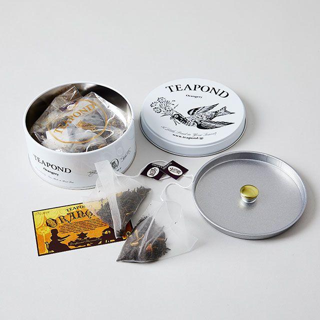 オランジェリー フラワーバード缶 / TEAPOND