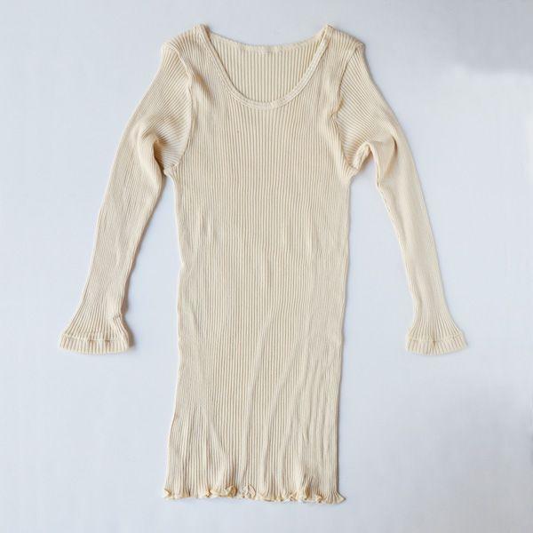 天衣無縫 スーピマリブ 8分袖シャツ