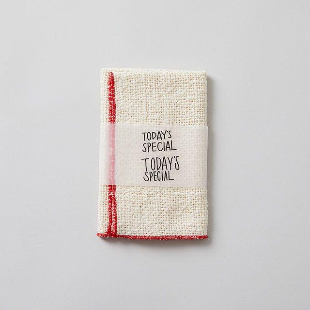 木玉毛織 × TODAY'S SPECIAL がら紡のふきん 赤