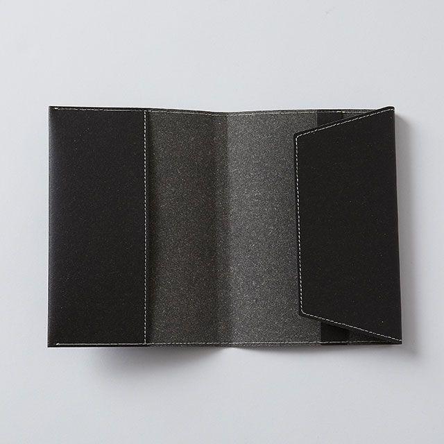 リサイクルレザー文庫カバー ブラック / TODAY'S SPECIAL