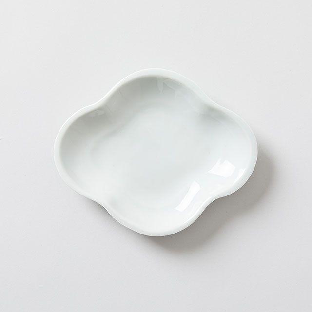 木瓜皿 白磁 小168 九谷青窯