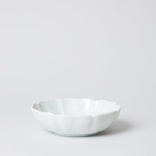 輪花 5.5寸鉢 / 九谷青窯