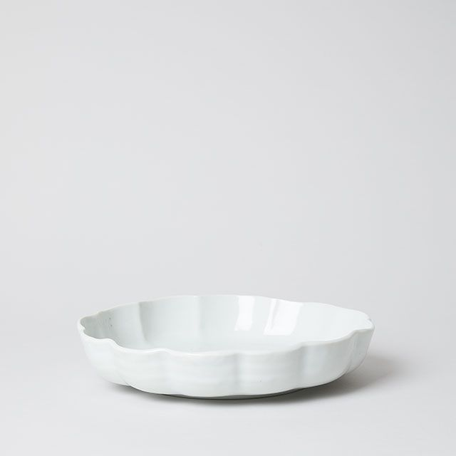 輪花 8寸鉢 / 九谷青窯