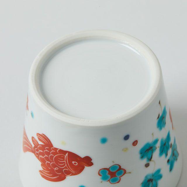 猪口 色絵魚藻 / 九谷青窯 ・ 横井 佳乃