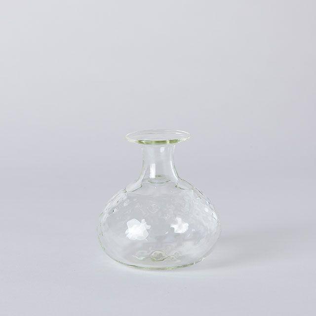 くるみ野の花こびん 玉ねぎ ダイヤ / ガラス工房 橙
