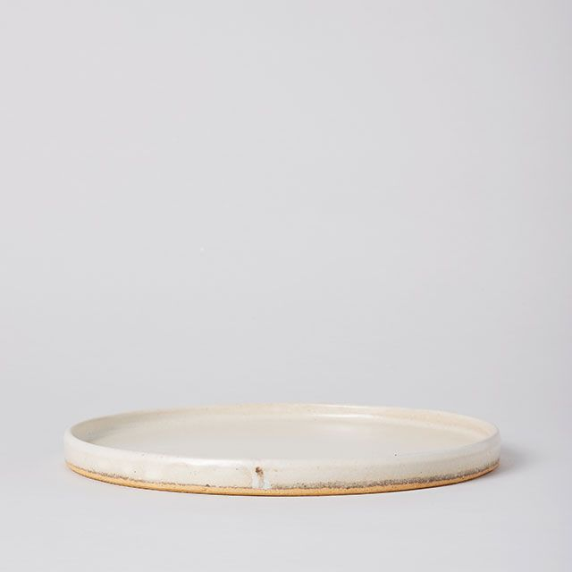 SHIGARAKI FLAT PLTAE 八寸 粉引 / 丸十製陶×TODAY'S SPECIAL