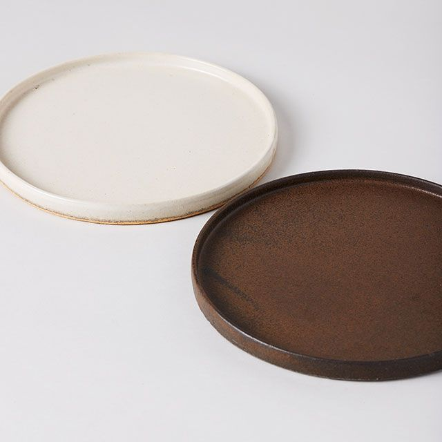 SHIGARAKI FLAT PLTAE 八寸 鉄錆 / 丸十製陶×TODAY'S SPECIAL