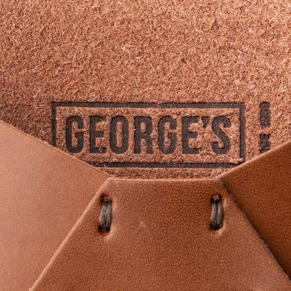 GEORGE'S レザーカードケース ブラウン
