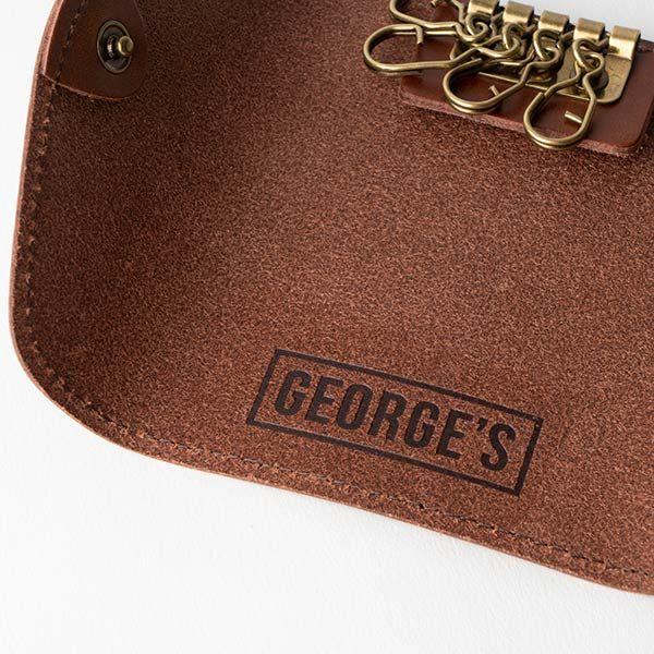 GEORGE'S レザーキーケース ブラウン