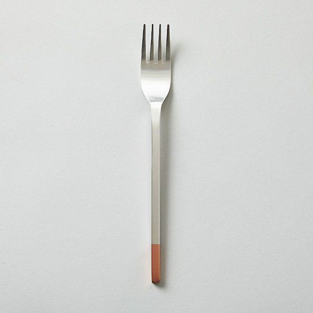工房アイザワ 純銅のカトラリー フォーク (純銅洋食器 銀仕上)