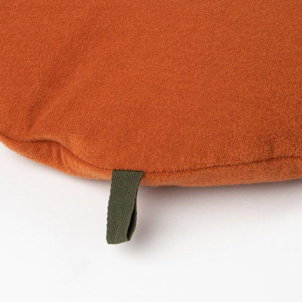 パイルビーズ ラウンドクッション 40cm オレンジ