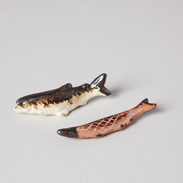 焼き魚の箸置き 鮎の塩焼き / 美濃焼