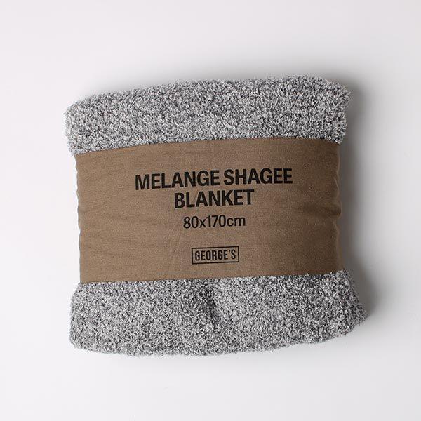 MELANGE SHAGGY マルチブランケット ネイビー