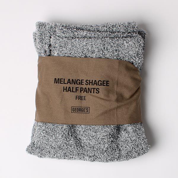 MELANGE SHAGGY ハーフパンツ ネイビー