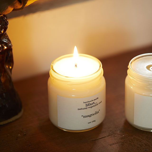 handmade candle lifart.../ハンドメイドキャンドルリファート フレグランスキャンドル magnolia