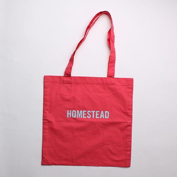 HOME STEADトートバッグ ピンク