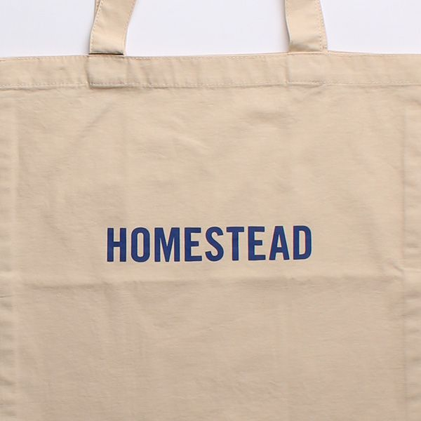 HOME STEADトートバッグ ホワイト