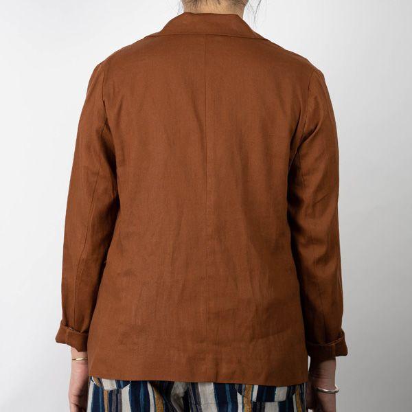 レーヨン麻ライトジャケット ブラウン