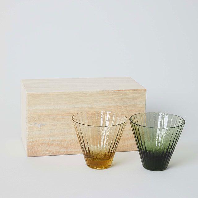 KIIRA GLASS SET TAN/FOREST