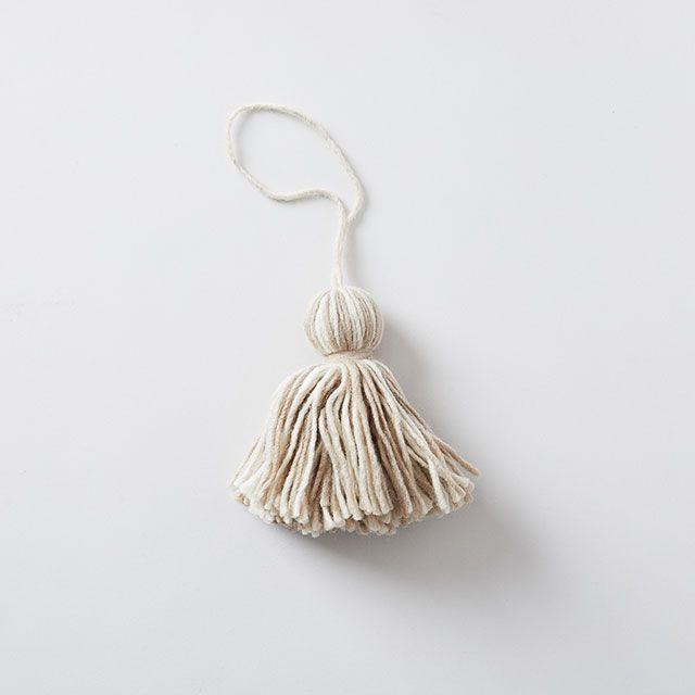 毛糸タッセル グレー vie polie/ヴィポリィ