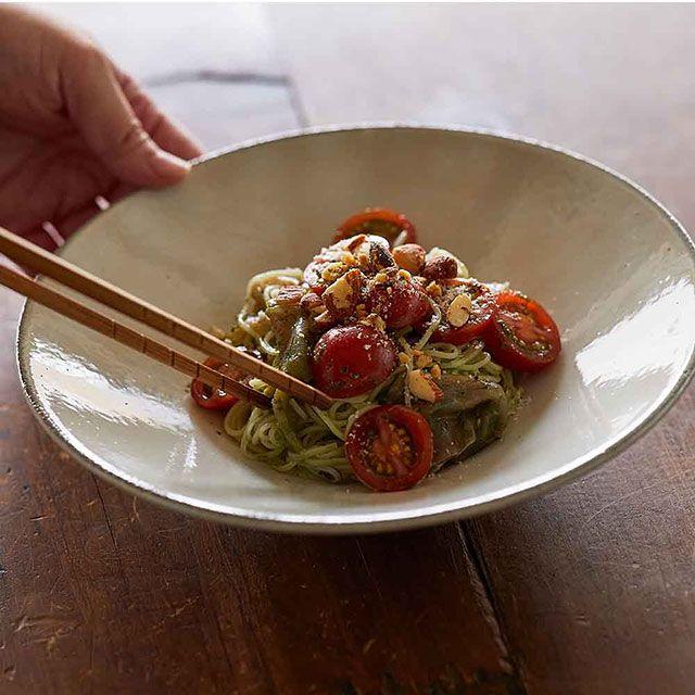 【レシピセット】トマトと生ハムのジェノベーゼそうめん