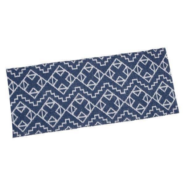 TAUKO/タウコ イージーケアラグ 45×120 幾何学ブルー