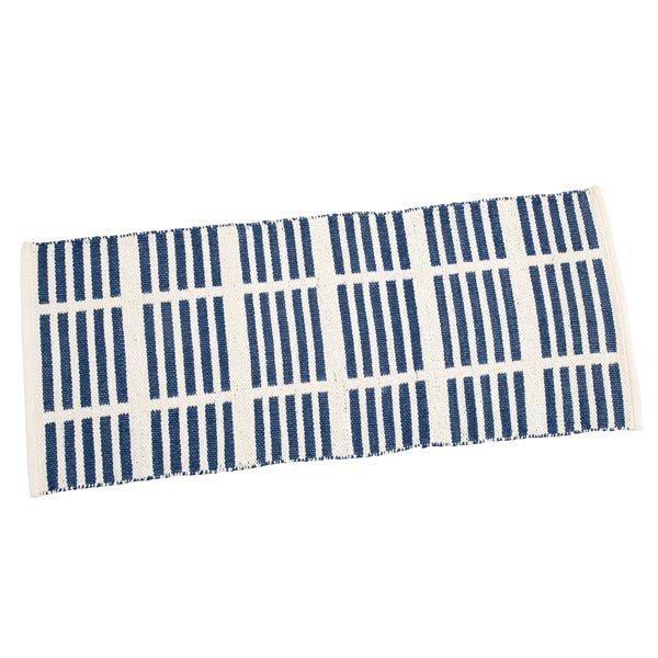 TAUKO/タウコ イージーケアラグ 45×120 ラインブルー