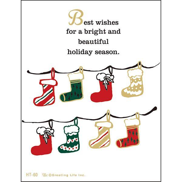 クリスマスレタープレスミニカード サンタ