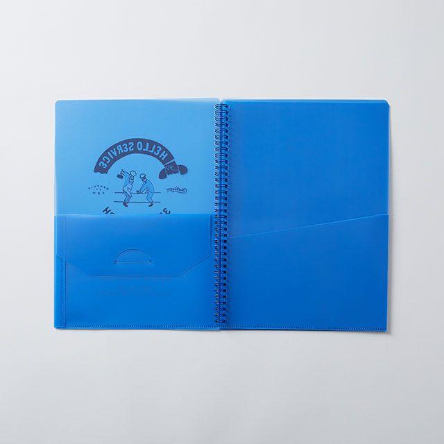 CHALKBOY ファイルケースブックA4 ブルー