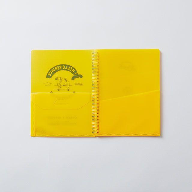 CHALKBOY ファイルケースブックA5 イエロー
