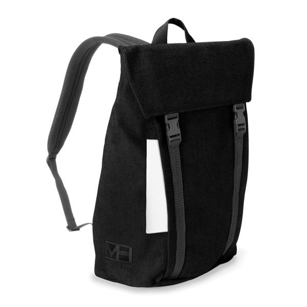 MHWAY BELL フラップ付きバッグパック L ブラック