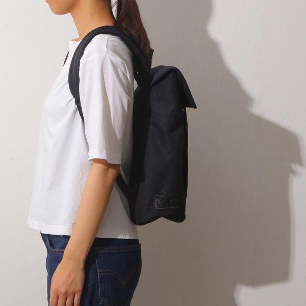 MHWAY BELLフラップ付きバッグパック M ブラック