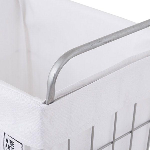 【オンライン限定】WIRE ARTS & PRO ランドリースクエアバスケット 45L ホワイト