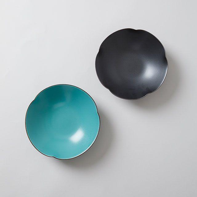 一誠陶器 × TODAY'S SPECIAL 三方なぶり 七寸鉢 黒