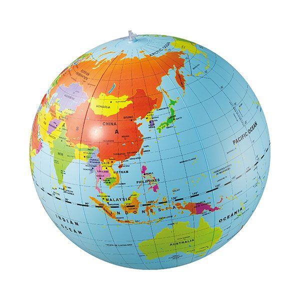 プラネットボール まあるい地球 50cm