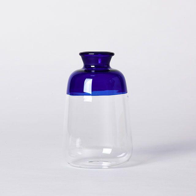 ガラスベース ツートーンM ブルー