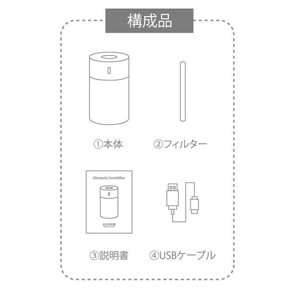 【オンライン限定】PAFBY コンパクト加湿器 ネイビー