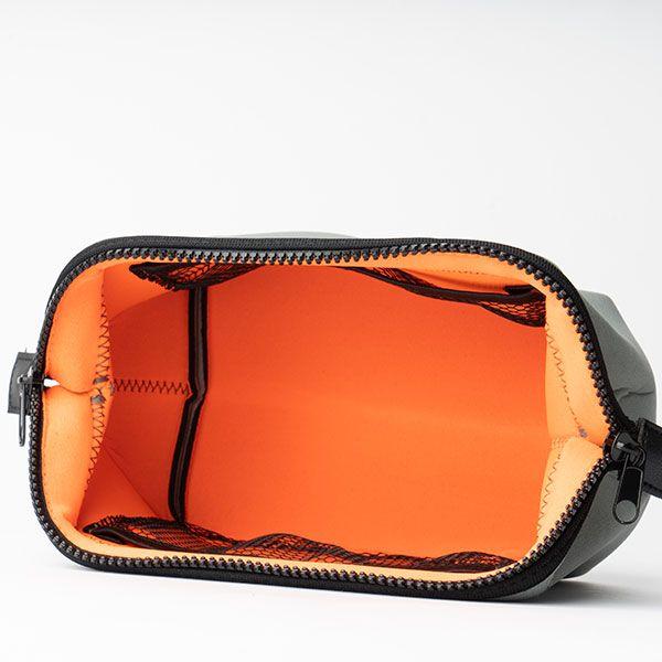 ワイヤーポーチ S ライトグレー×オレンジ