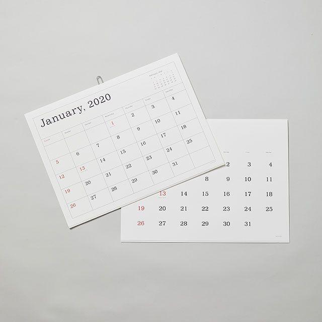 カレンダー2020 罫線なし ANDO GALLERY/アンドーギャラリー