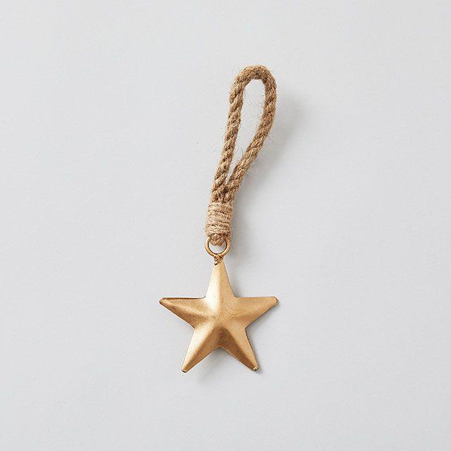METAL ORNAMENT 星 ゴールド