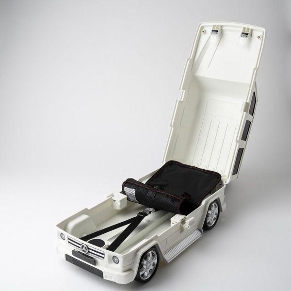 キッズキャリーカート メルセデスベンツ Gクラス ホワイト
